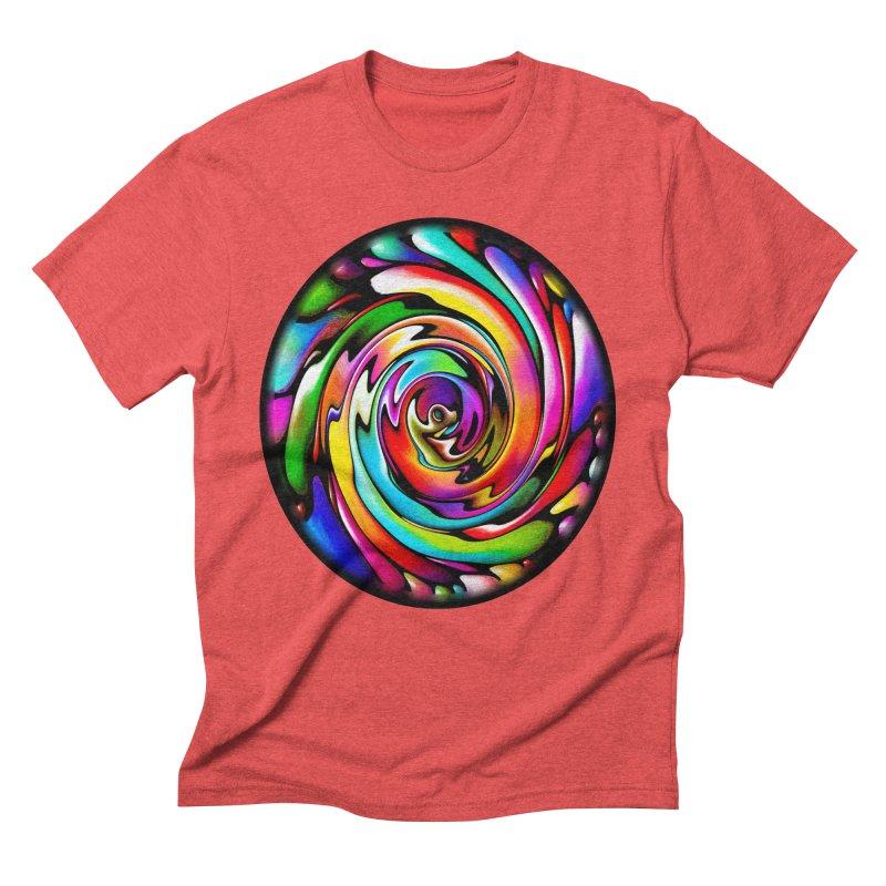 Rainbow Portal Men's Triblend T-Shirt by Allison Low Art