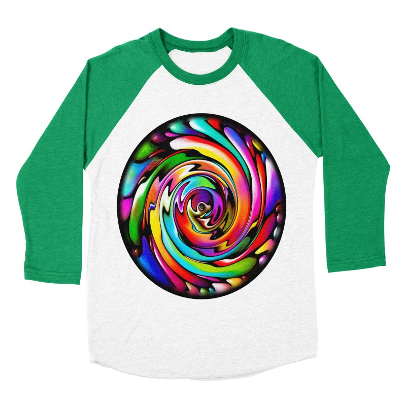 Rainbow Portal Women's Baseball Triblend T-Shirt by Allison Low Art