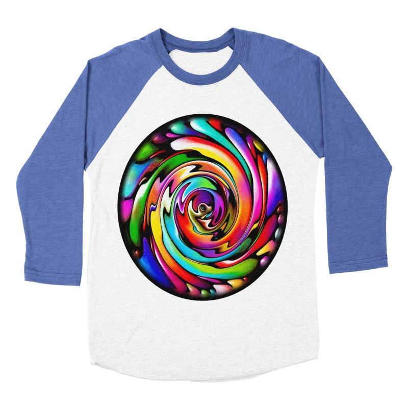Rainbow Portal Men's Baseball Triblend T-Shirt by Allison Low Art