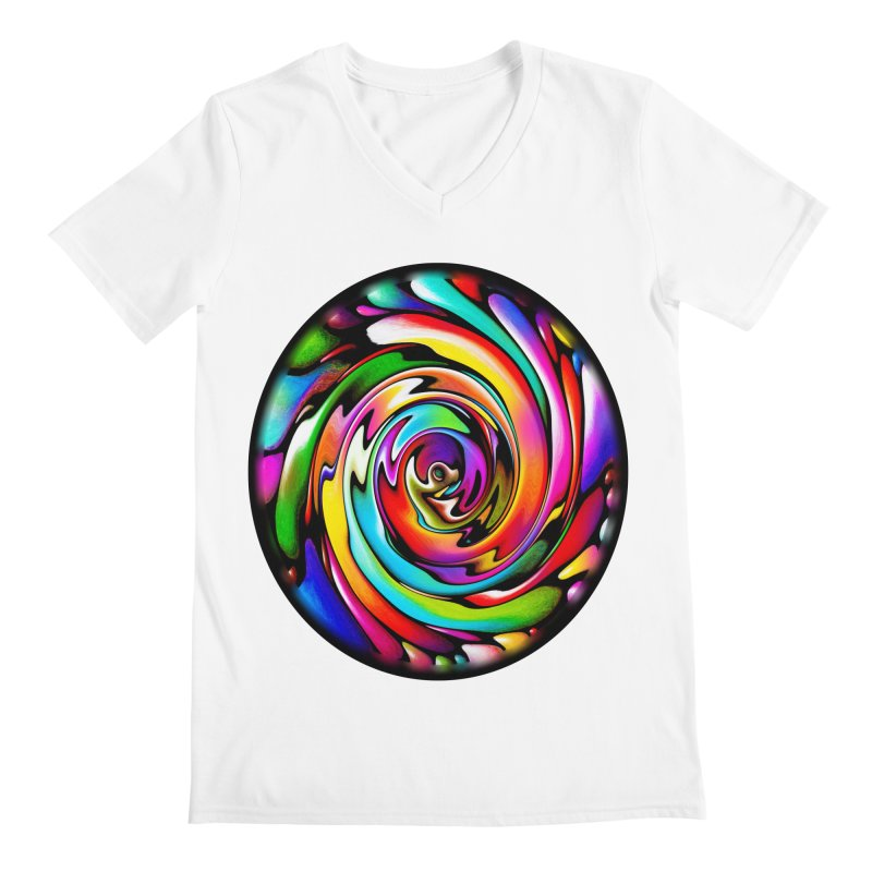 Rainbow Portal Men's V-Neck by Allison Low Art