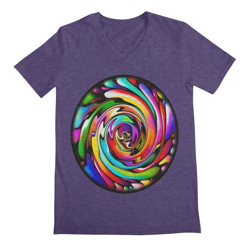Rainbow Portal Men's Regular V-Neck by Allison Low Art