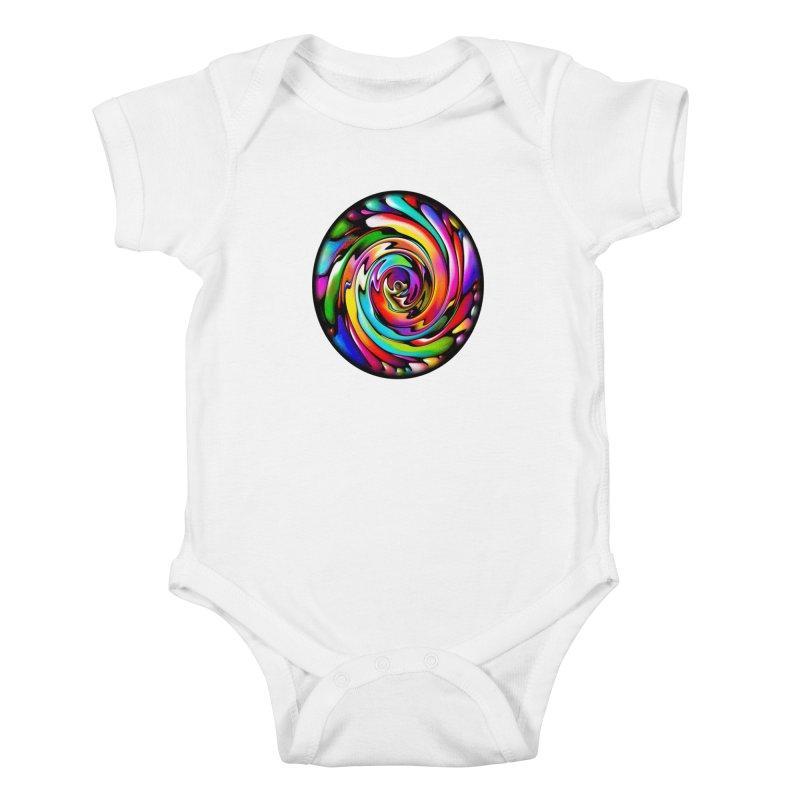 Rainbow Portal Kids Baby Bodysuit by Allison Low Art