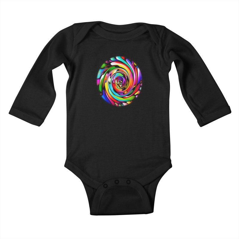 Rainbow Portal Kids Baby Longsleeve Bodysuit by Allison Low Art
