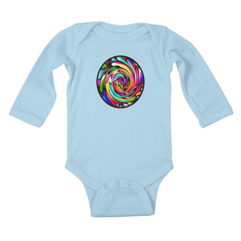 Rainbow Portal Kids Baby Longsleeve Bodysuit by Allison Low Art