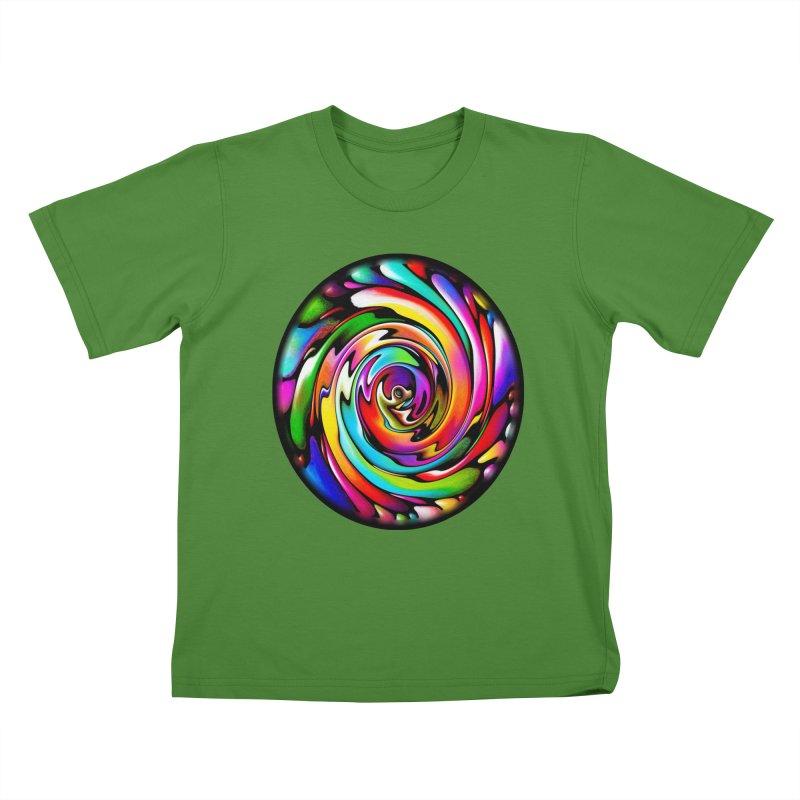 Rainbow Portal Kids T-shirt by Allison Low Art