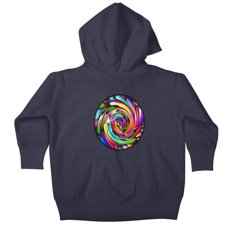 Rainbow Portal Kids Baby Zip-Up Hoody by Allison Low Art