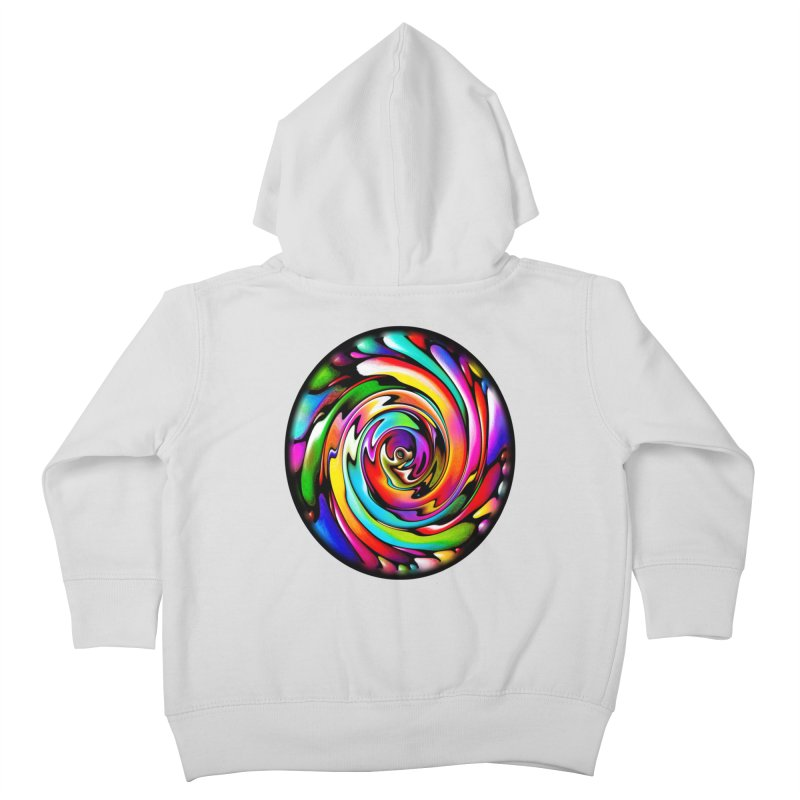 Rainbow Portal Kids Toddler Zip-Up Hoody by Allison Low Art