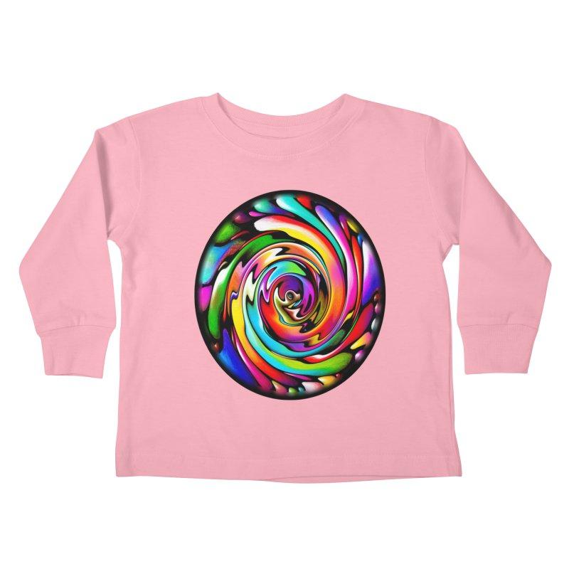 Rainbow Portal Kids Toddler Longsleeve T-Shirt by Allison Low Art