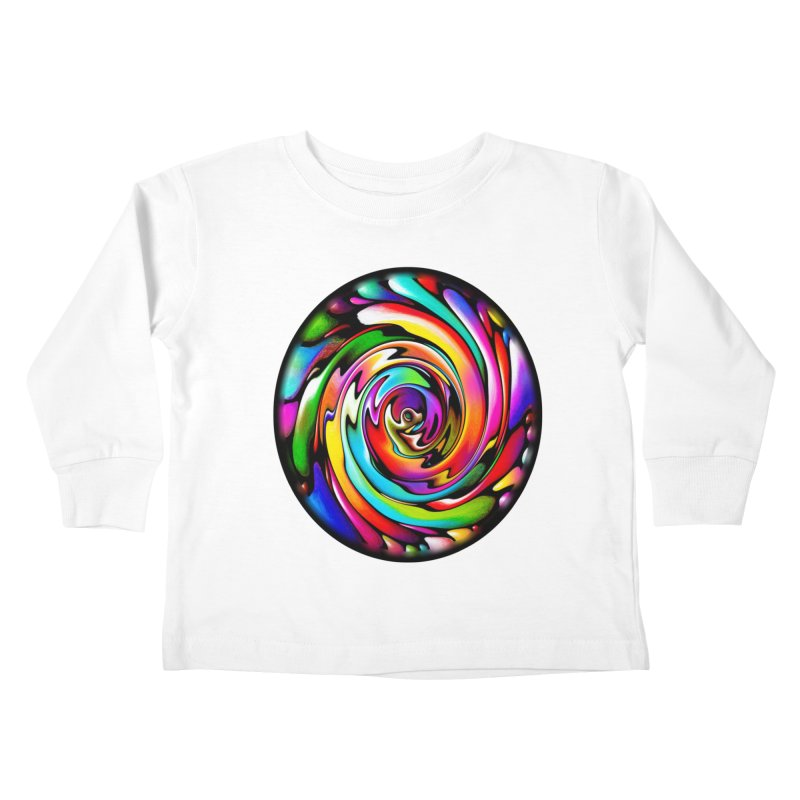 Rainbow Portal Kids Toddler Longsleeve T-Shirt by Allison Low Art