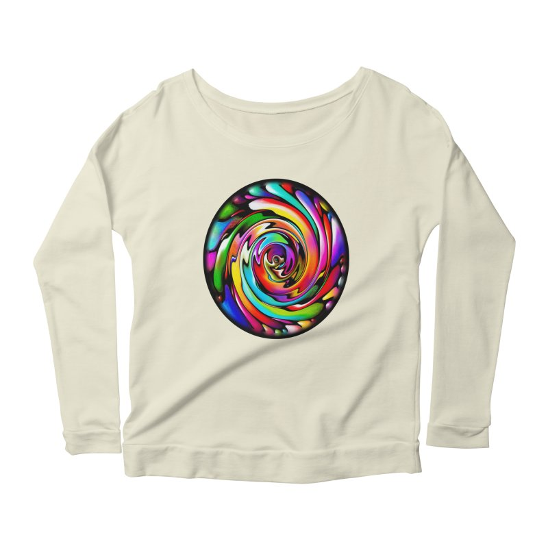 Rainbow Portal Women's Longsleeve Scoopneck  by Allison Low Art