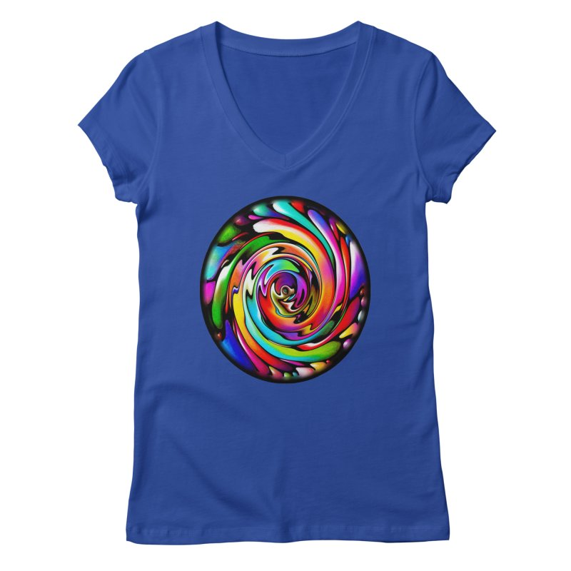 Rainbow Portal Women's V-Neck by Allison Low Art