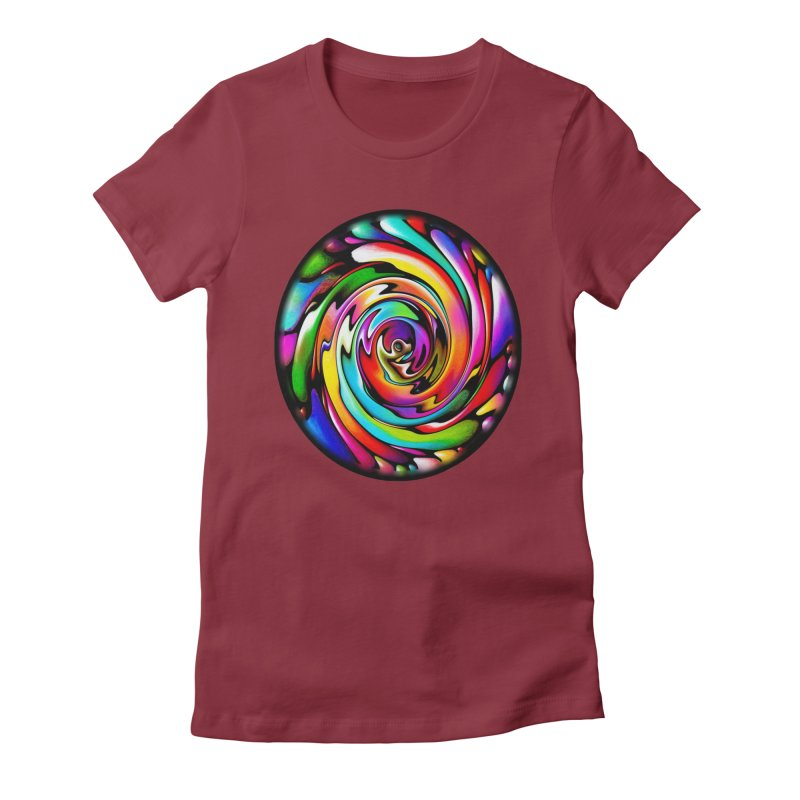 Rainbow Portal Women's Fitted T-Shirt by Allison Low Art