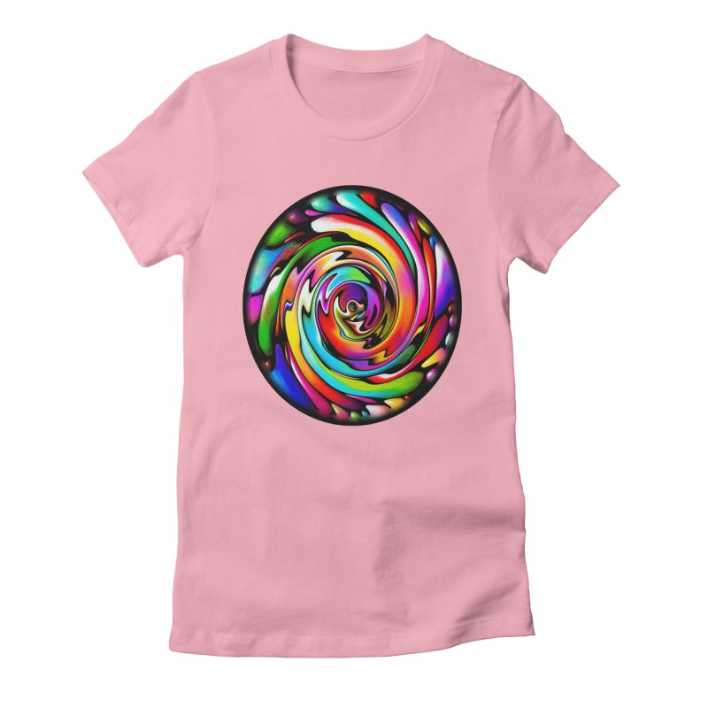 Rainbow Portal Women's Fitted T-Shirt by Allison Low Art
