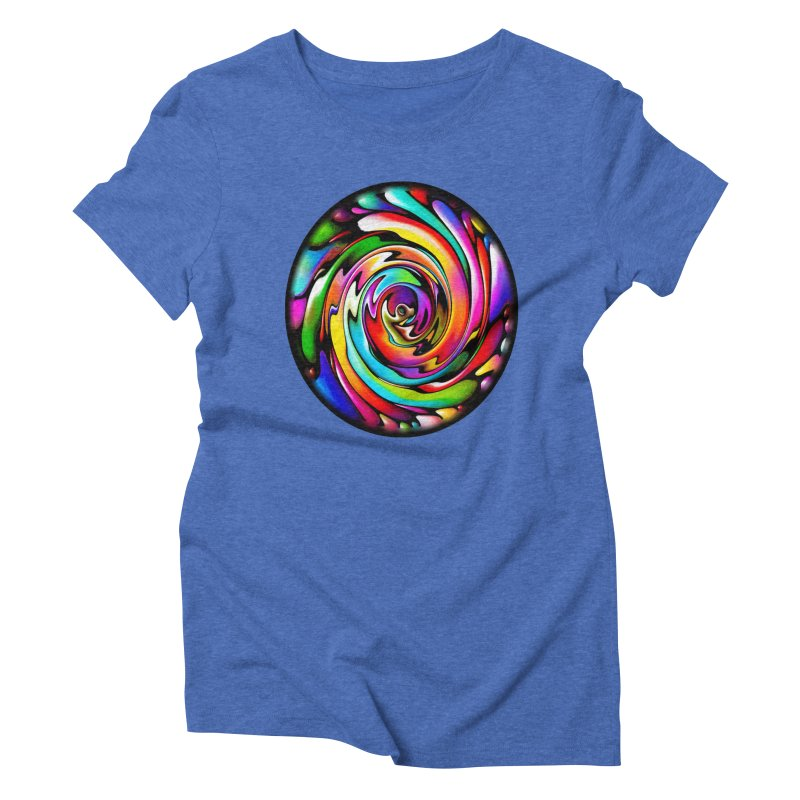 Rainbow Portal Women's Triblend T-Shirt by Allison Low Art