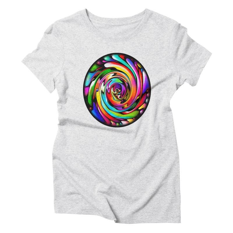 Rainbow Portal Women's Triblend T-Shirt by Allison Low Art