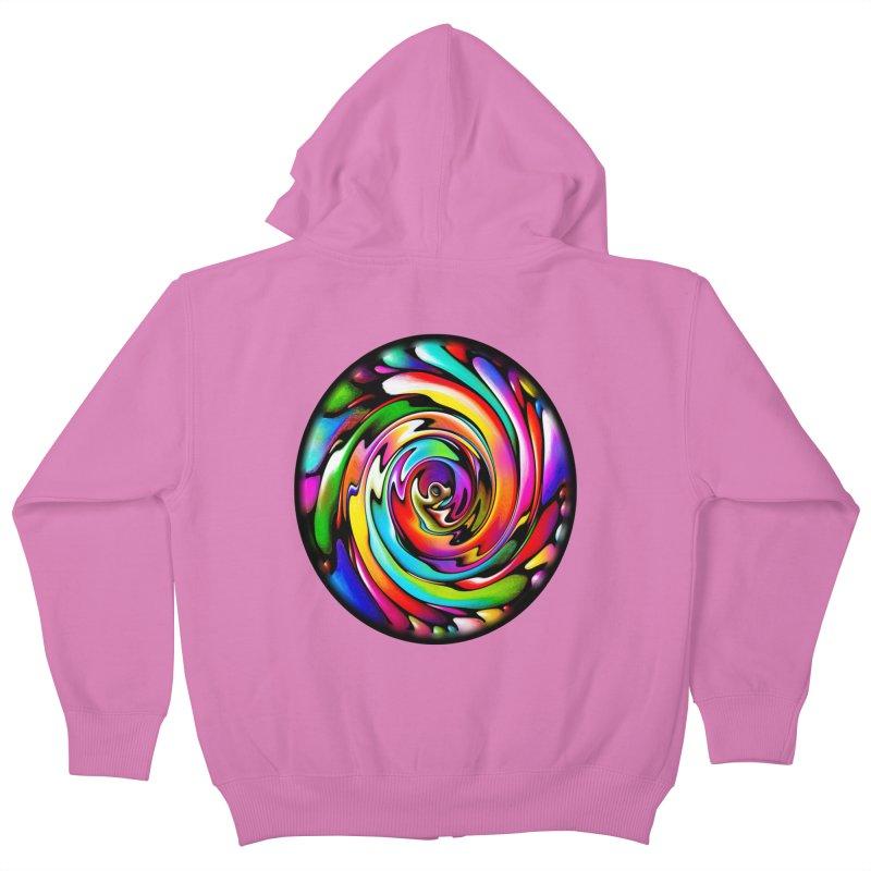 Rainbow Portal Kids Zip-Up Hoody by Allison Low Art