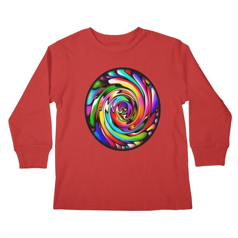 Rainbow Portal Kids Longsleeve T-Shirt by Allison Low Art