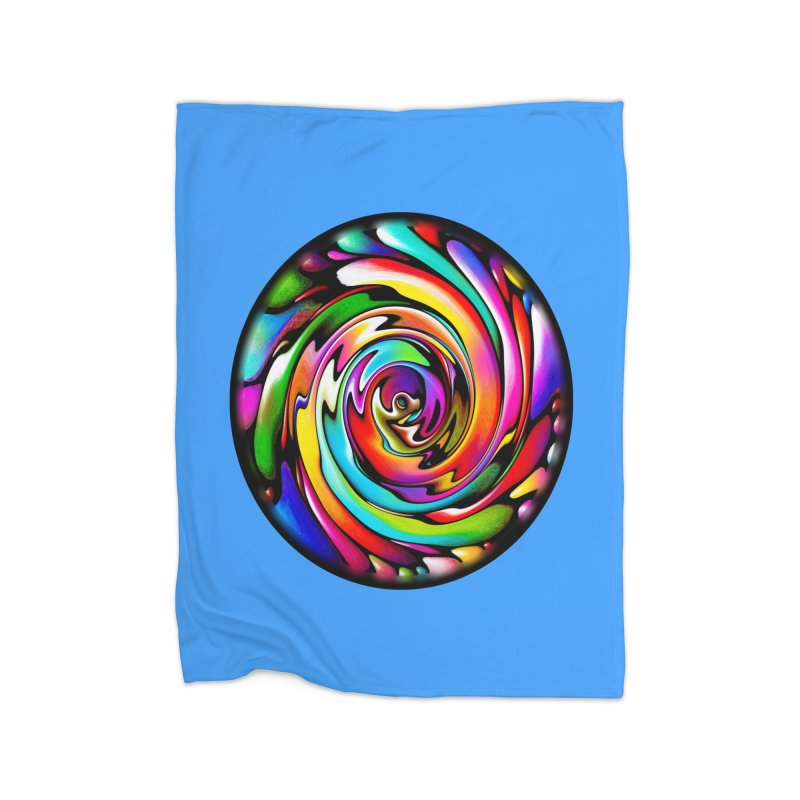 Rainbow Portal Home Blanket by Allison Low Art