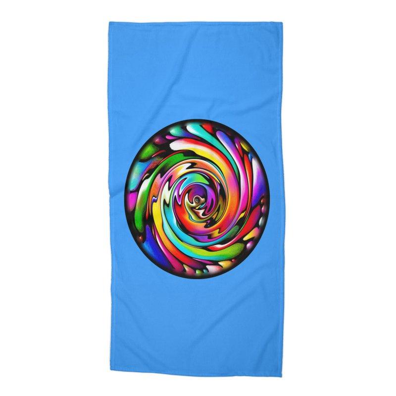 Rainbow Portal Accessories Beach Towel by Allison Low Art
