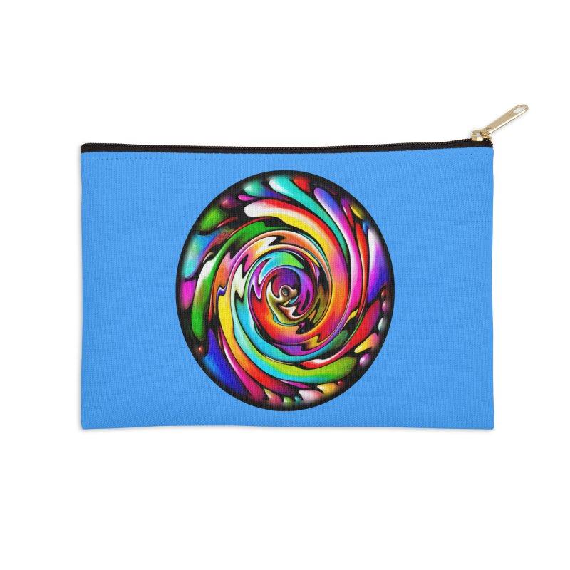Rainbow Portal Accessories Zip Pouch by Allison Low Art