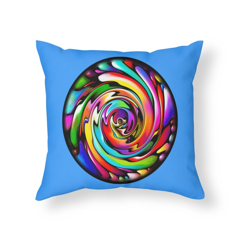 Rainbow Portal Home Throw Pillow by Allison Low Art