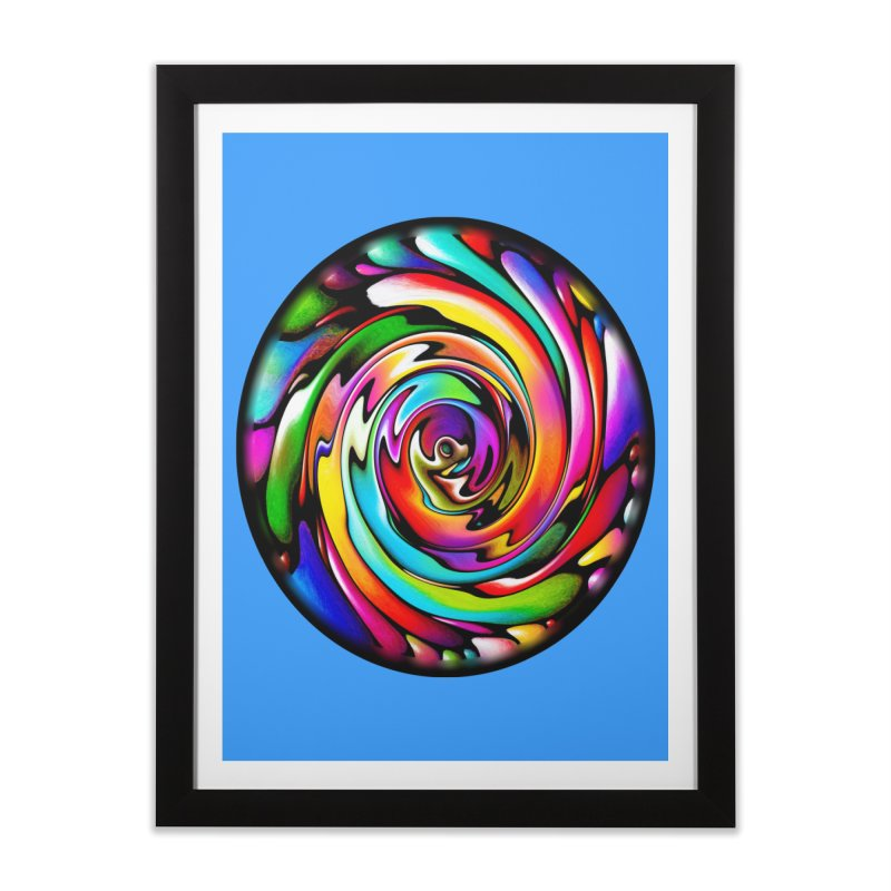 Rainbow Portal Home Framed Fine Art Print by Allison Low Art