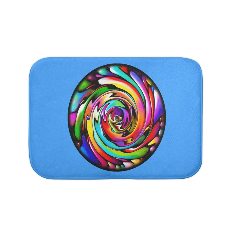 Rainbow Portal Home Bath Mat by Allison Low Art