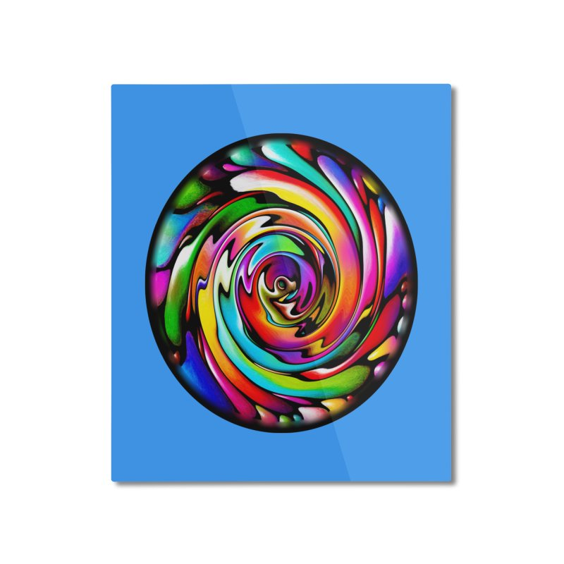 Rainbow Portal Home Mounted Aluminum Print by Allison Low Art