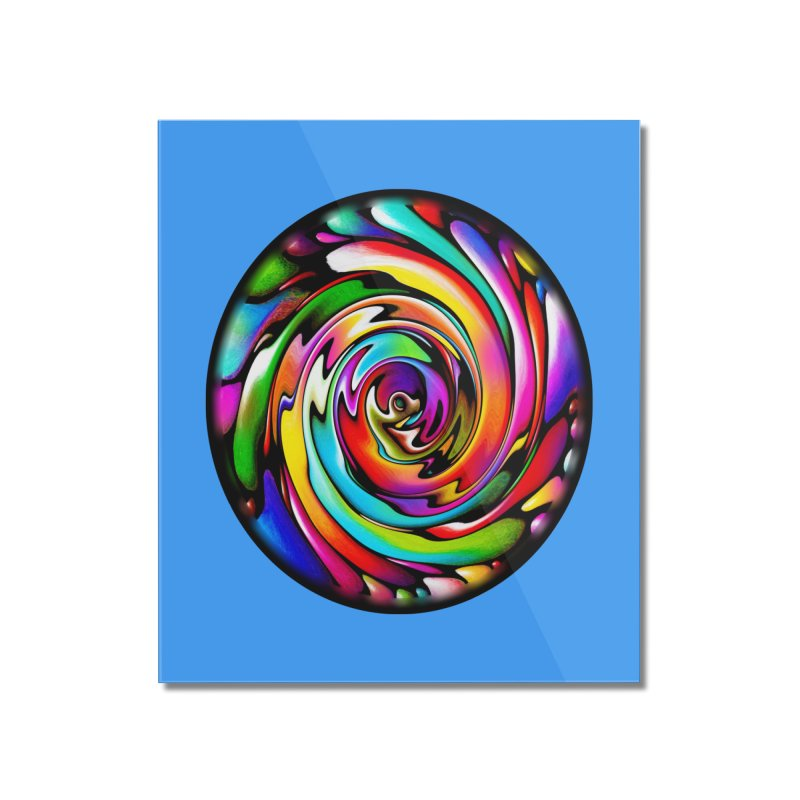 Rainbow Portal Home Mounted Acrylic Print by Allison Low Art