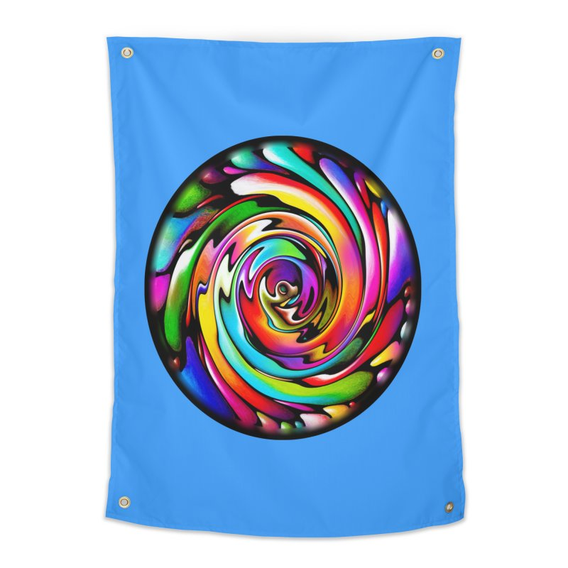 Rainbow Portal Home Tapestry by Allison Low Art