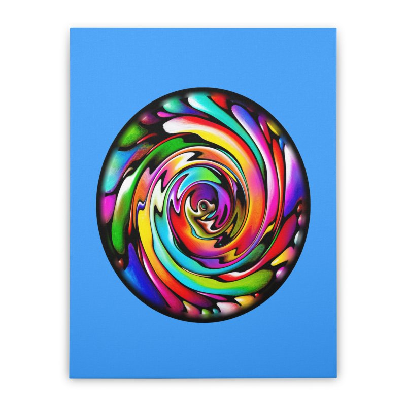Rainbow Portal Home Stretched Canvas by Allison Low Art