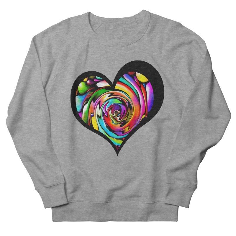 Rainbow Heart Swirl Women's Sweatshirt by Allison Low Art