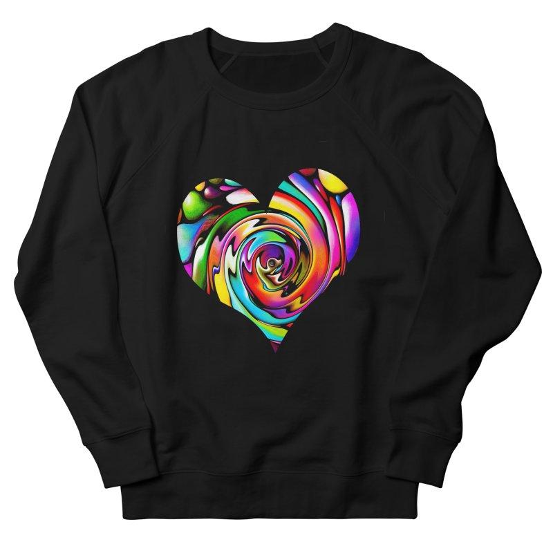 Rainbow Heart Swirl Women's French Terry Sweatshirt by Allison Low Art