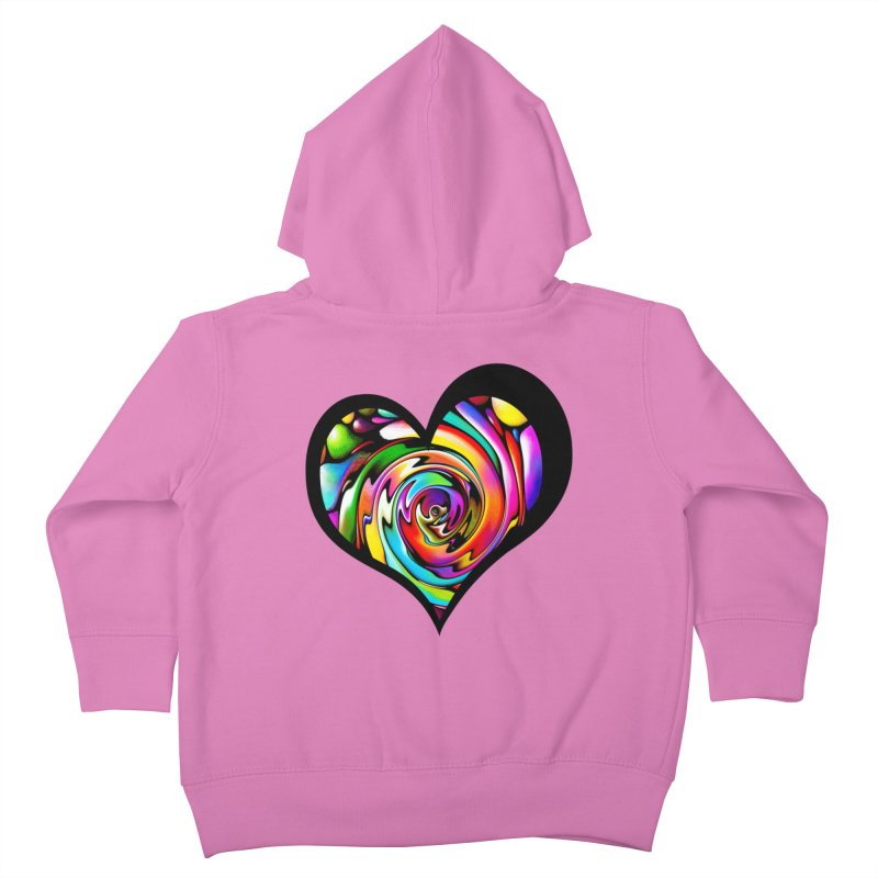 Rainbow Heart Swirl Kids Toddler Zip-Up Hoody by Allison Low Art