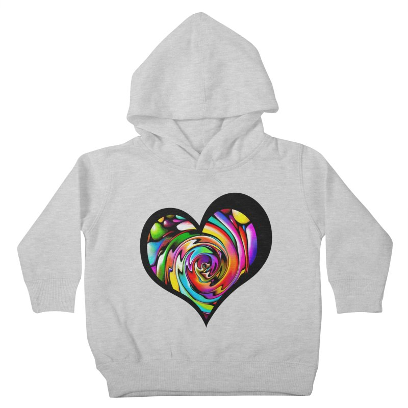 Rainbow Heart Swirl Kids Toddler Pullover Hoody by Allison Low Art