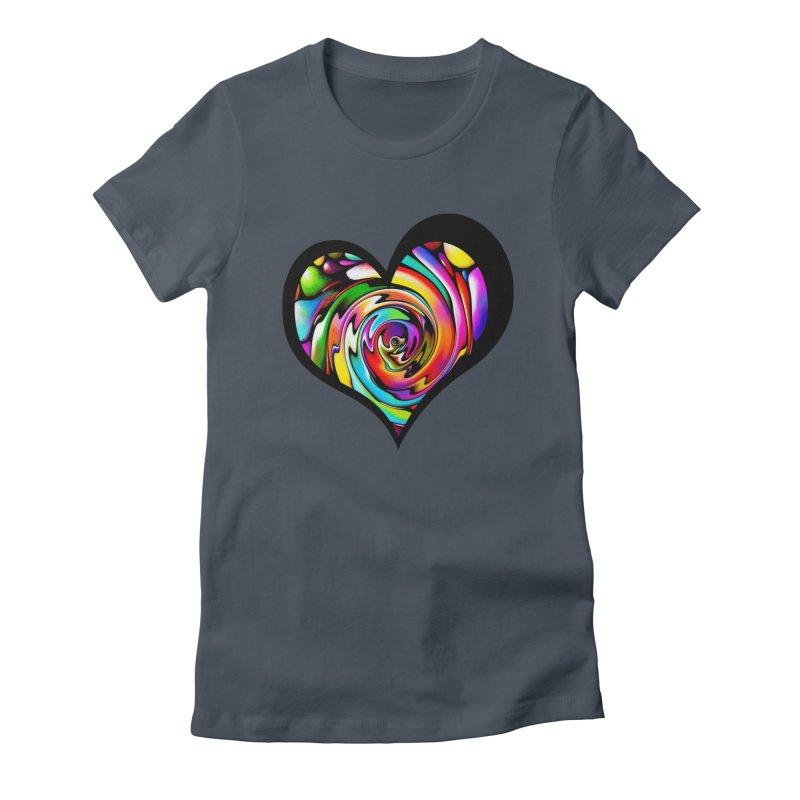 Rainbow Heart Swirl Women's Lounge Pants by Allison Low Art