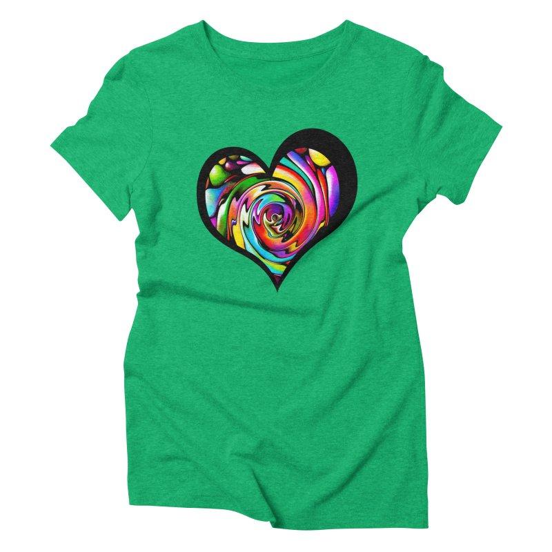 Rainbow Heart Swirl   by Allison Low Art