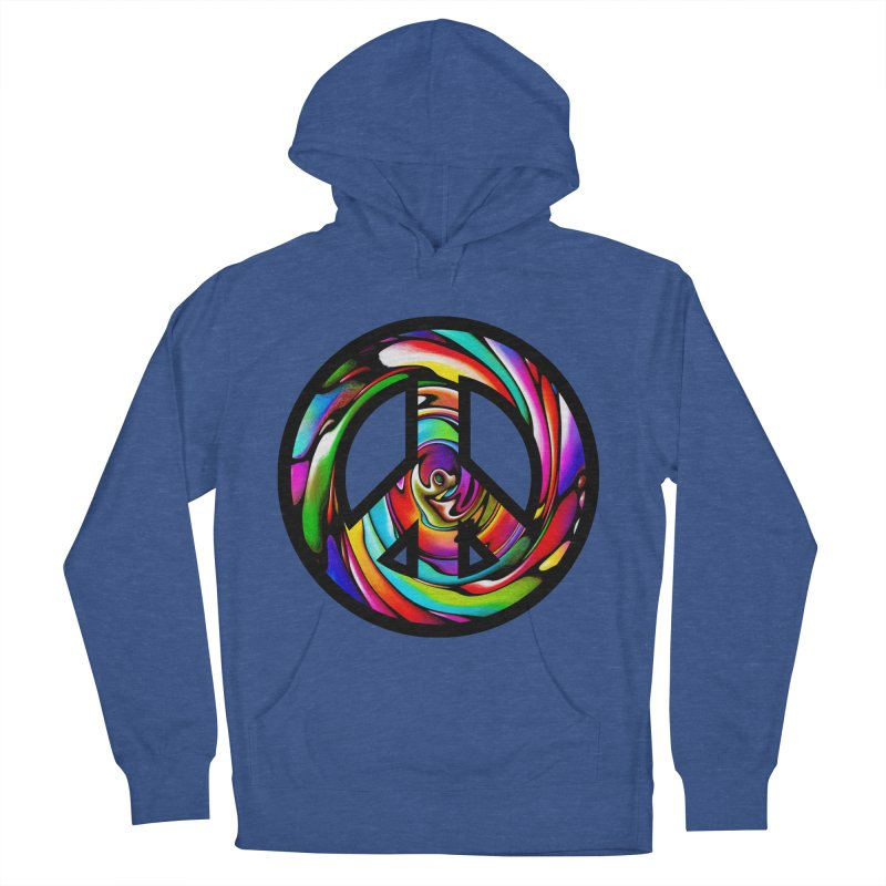 Rainbow Peace Swirl Women's French Terry Pullover Hoody by Allison Low Art