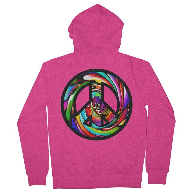 Rainbow Peace Swirl Women's Zip-Up Hoody by Allison Low Art