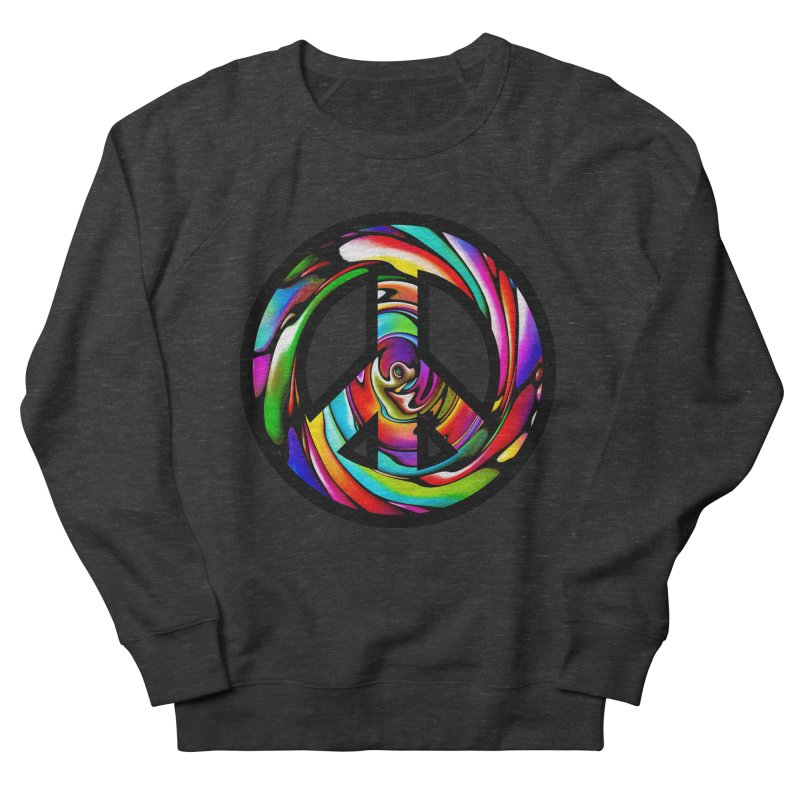 Rainbow Peace Swirl Women's Sweatshirt by Allison Low Art