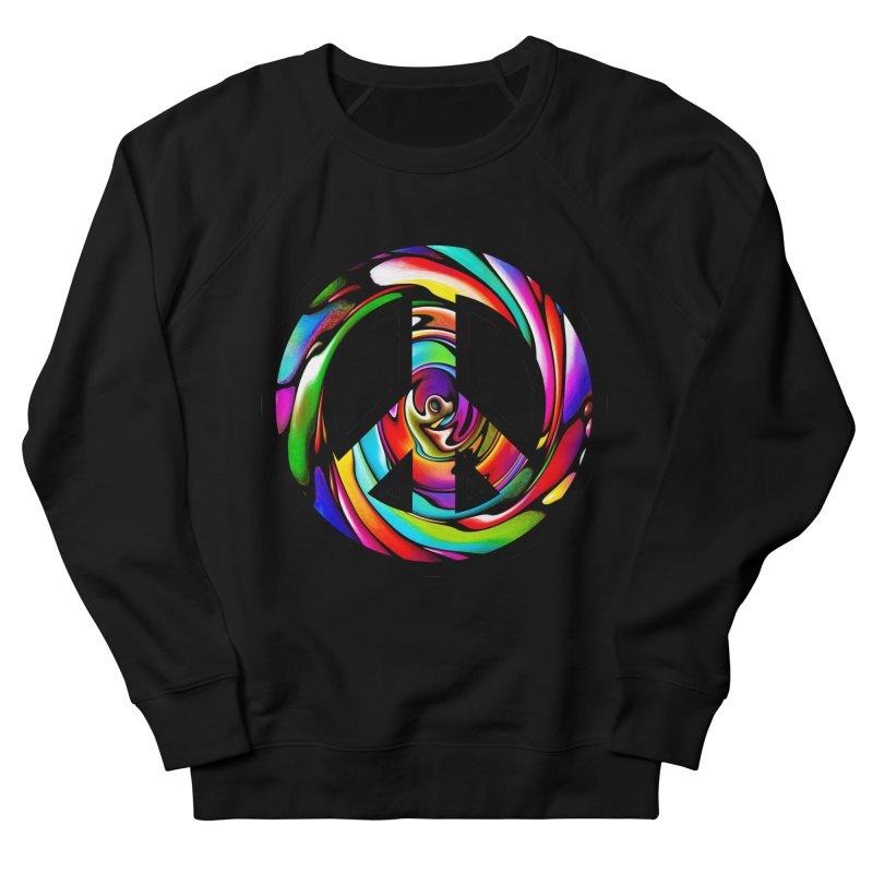 Rainbow Peace Swirl Women's French Terry Sweatshirt by Allison Low Art