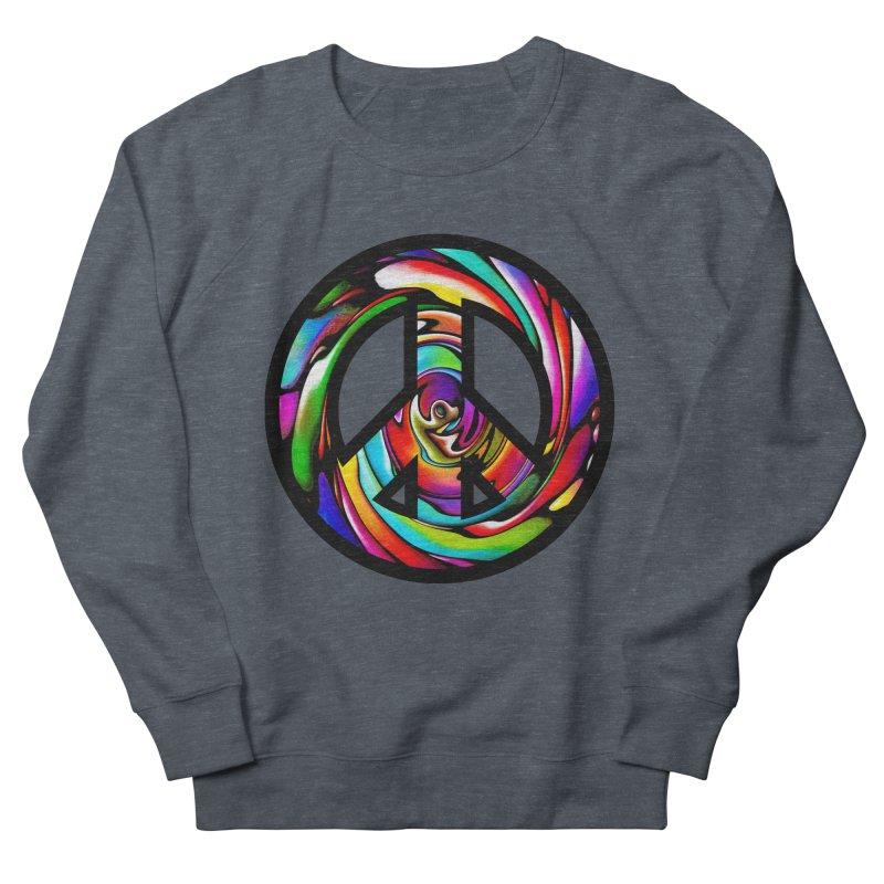 Rainbow Peace Swirl Men's Sweatshirt by Allison Low Art