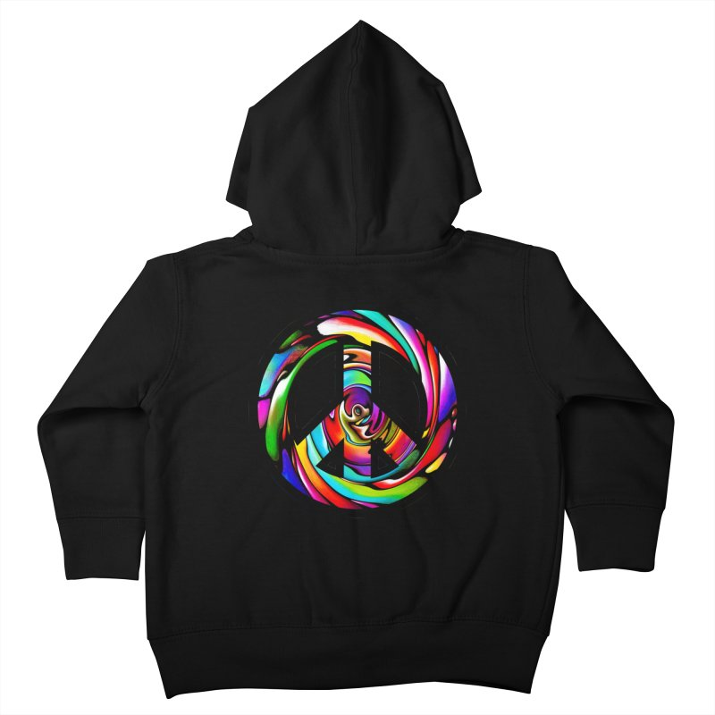 Rainbow Peace Swirl Kids Toddler Zip-Up Hoody by Allison Low Art