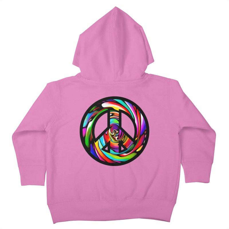 Rainbow Peace Swirl Kids Toddler Zip-Up Hoody by Allison Low Art