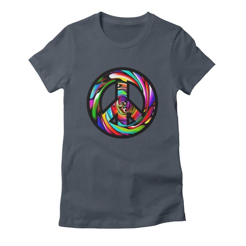 Rainbow Peace Swirl Women's Lounge Pants by Allison Low Art