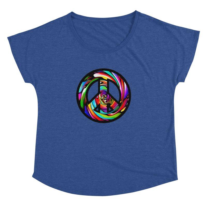 Rainbow Peace Swirl Women's Dolman by Allison Low Art
