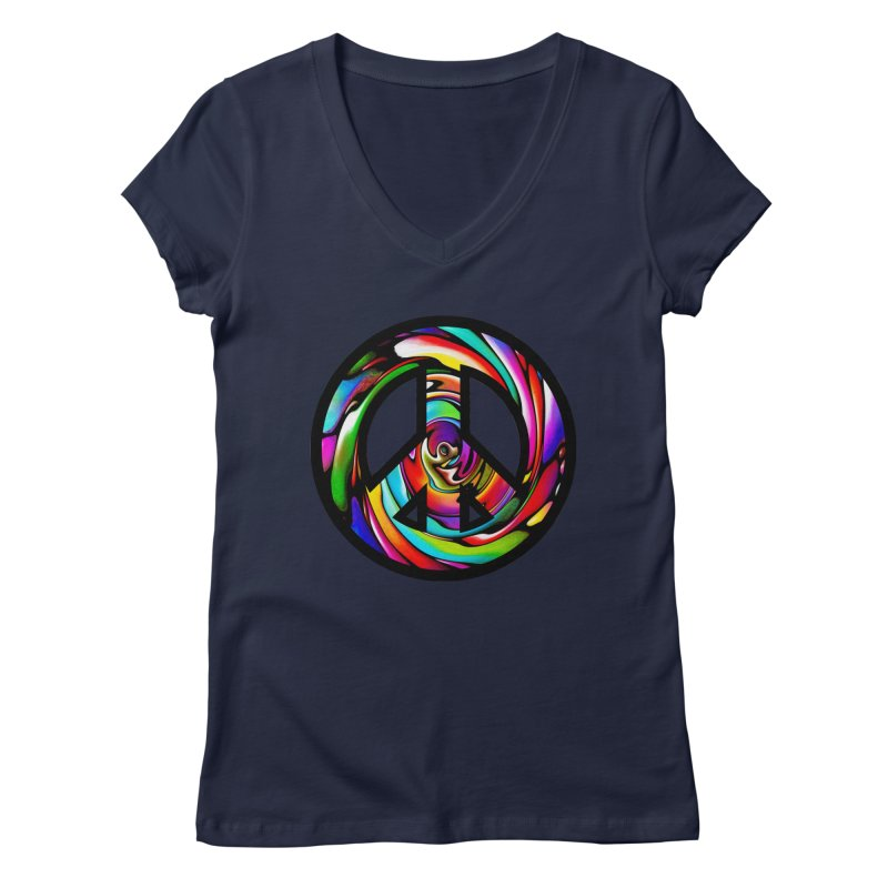 Rainbow Peace Swirl   by Allison Low Art