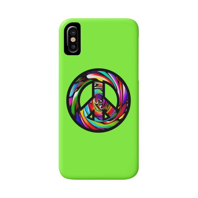 Rainbow Peace Swirl Accessories Phone Case by Allison Low Art
