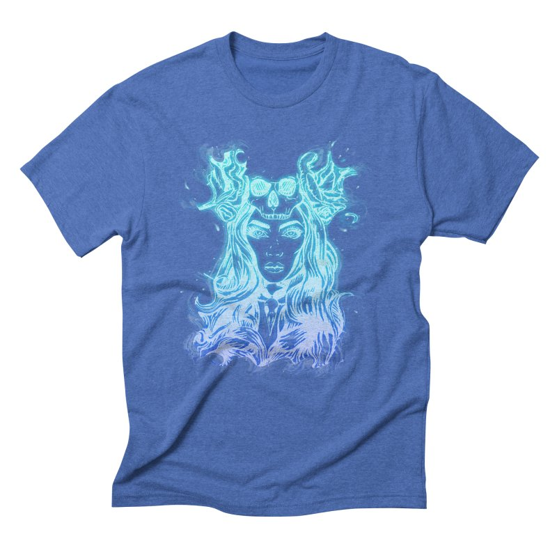 Blueglow Baby Men's Triblend T-Shirt by Allison Low Art