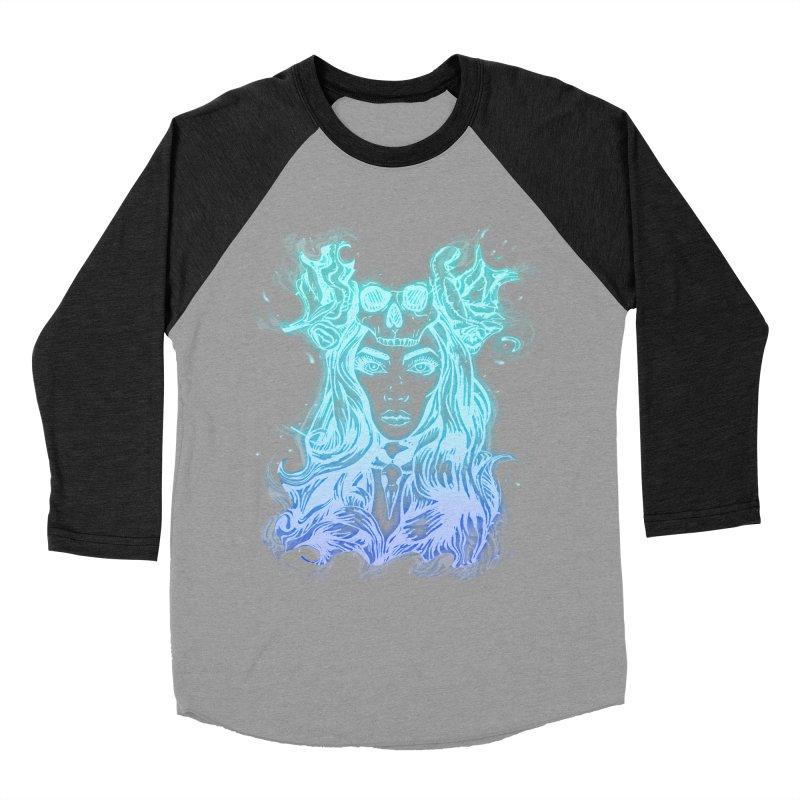 Blueglow Baby Women's Baseball Triblend T-Shirt by Allison Low Art
